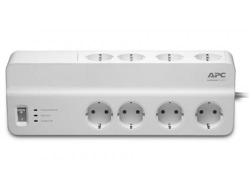Сетевой фильтр APC Essential SurgeArrest PM8-RS (8 розеток, 2 метра), белый, вид 1