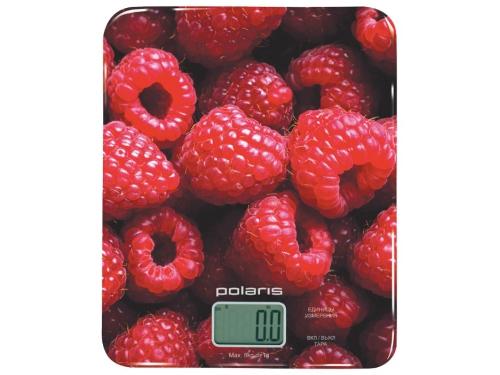 Кухонные весы Polaris PKS 0832DG с принтом малина, вид 1