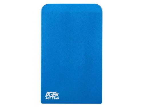 Корпус для жесткого диска AgeStar 3UB2O1 (2.5'', microUSB 3.0), синий, вид 2