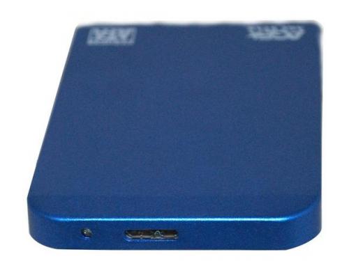 Корпус для жесткого диска AgeStar 3UB2O1 (2.5'', microUSB 3.0), синий, вид 3