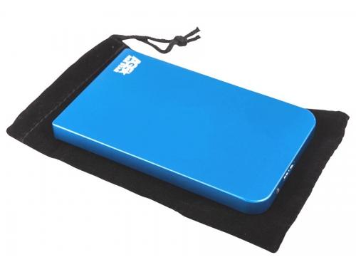Корпус для жесткого диска AgeStar 3UB2O1 (2.5'', microUSB 3.0), синий, вид 4