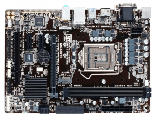 Материнская плата GIGABYTE GA-H170M-HD3 DDR3 (rev. 1.0) (mATX, LGA1151, Intel H170), вид 1