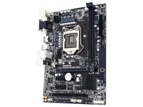 Материнская плата GIGABYTE GA-H170M-HD3 DDR3 (rev. 1.0) (mATX, LGA1151, Intel H170), вид 2