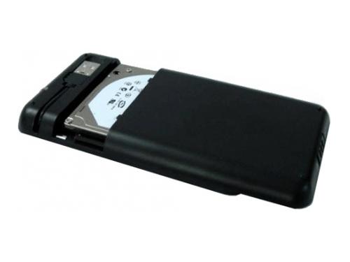 Корпус для жесткого диска AgeSTAR SUB2A8 (USB 2.0, 2.5'', SATA), чёрно-серебристый, вид 3