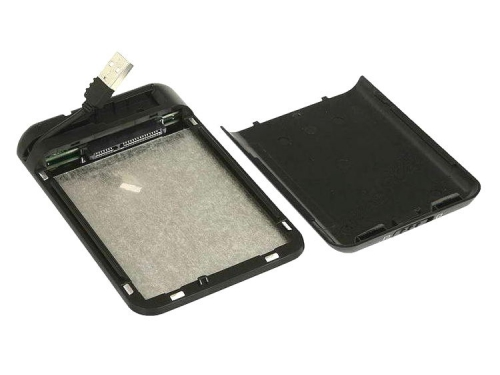 Корпус для жесткого диска AgeSTAR SUB2A8 (USB 2.0, 2.5'', SATA), чёрно-серебристый, вид 4