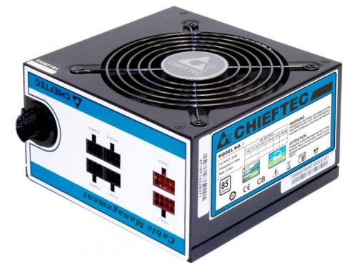 Блок питания Chieftec 550W CTG-550C (ATX v2.3, APFC, Fan 12 см, съёмные кабели), вид 1
