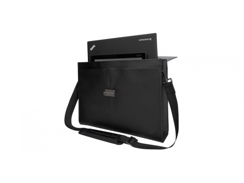 Сумка для ноутбука Lenovo Executive Leather Case, черная, вид 1