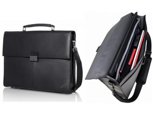 Сумка для ноутбука Lenovo Executive Leather Case, черная, вид 2