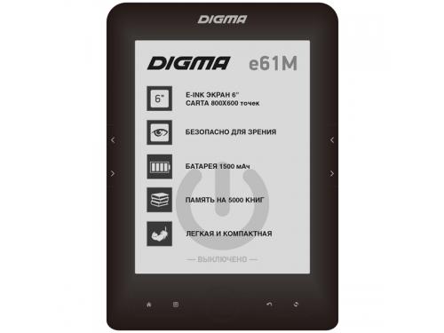 Электронная книга Digma E61M, черная, вид 1