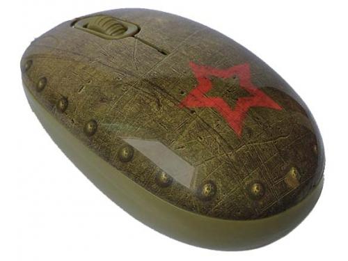 Мышка CBR Tank Battle,  1200 dpi, рисунок, USB + коврик, вид 1