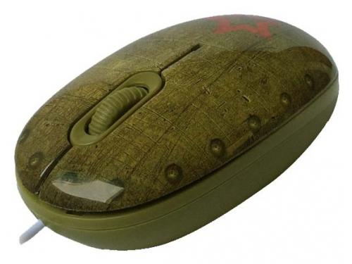 Мышка CBR Tank Battle,  1200 dpi, рисунок, USB + коврик, вид 2