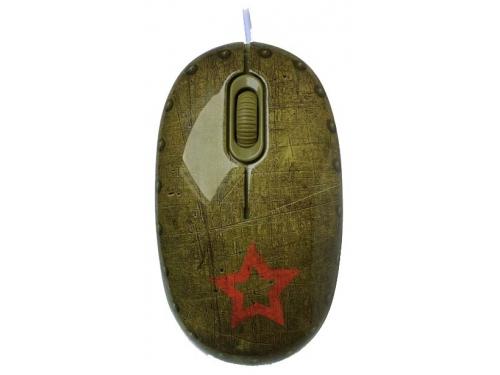 Мышка CBR Tank Battle,  1200 dpi, рисунок, USB + коврик, вид 3