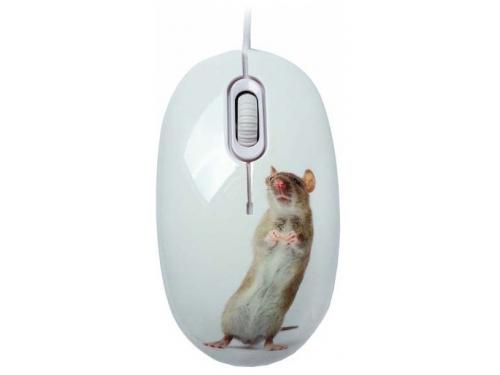 Мышка CBR Capture,  1200 dpi, рисунок, USB + коврик, вид 1