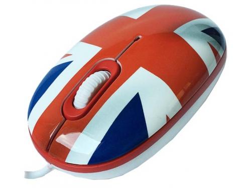 Мышка CBR Breakfast,  1200 dpi, рисунок, USB + коврик, вид 3