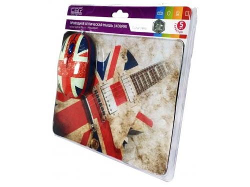 Мышка CBR Guitar Hero,  1200 dpi, рисунок, USB + коврик, вид 6