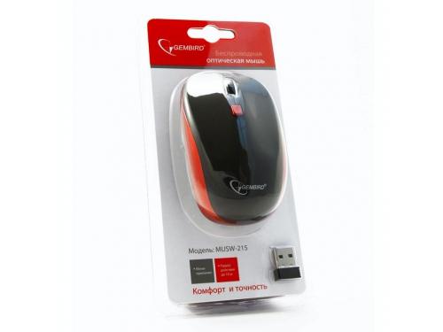Мышка Gembird MUSW-215R чёрный/красный, вид 3