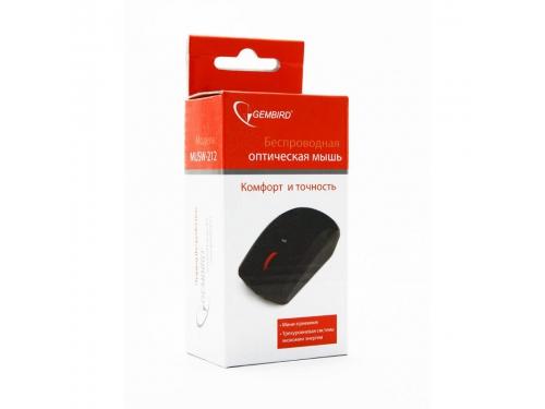 Мышка Gembird MUSW-212, черн, 3кн.+колесо-кнопка, 2.4ГГц, 1600 dpi, вид 3