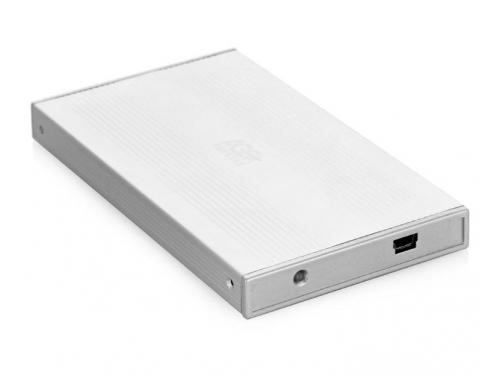 Корпус для жесткого диска AgeStar SUB2S (SATA - USB 2.0, 2.5''), серебристый, вид 1
