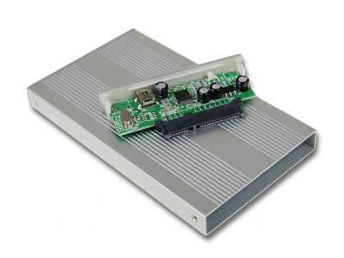 Корпус для жесткого диска AgeStar SUB2S (SATA - USB 2.0, 2.5''), серебристый, вид 3