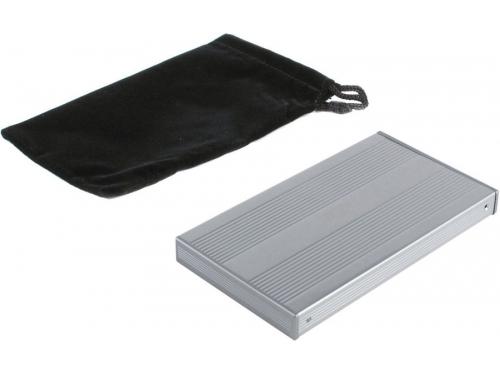 Корпус для жесткого диска AgeStar SUB2S (SATA - USB 2.0, 2.5''), серебристый, вид 4
