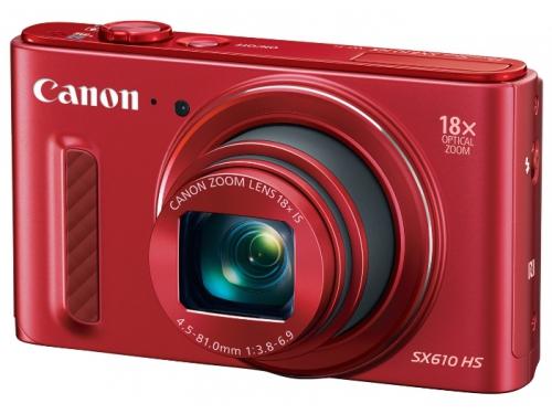 Цифровой фотоаппарат Canon PowerShot SX610HS красный, вид 1