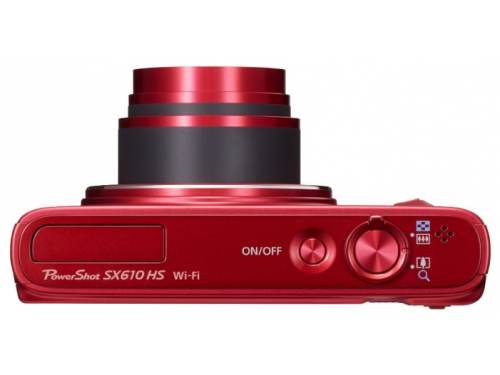 Цифровой фотоаппарат Canon PowerShot SX610HS красный, вид 3
