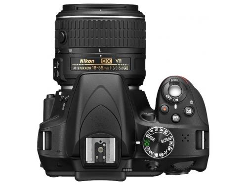 Цифровой фотоаппарат Nikon D3300 KIT (AF-P DX 18-55mm VR), черный, вид 3