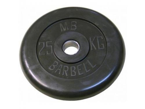 Диск для штанги MB Barbell (26 мм 25 кг), Черный, вид 1