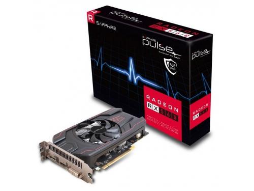 Видеокарта Radeon Sapphire PULSE Radeon RX 560 4GD5 (45W) 128bit, DVI-D + HDMI + DP, 11267-01-20G, вид 1