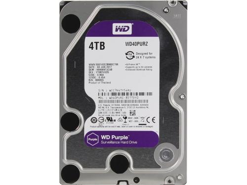 Жесткий диск Western Digital WD40PURZ Purple 4 TB, вид 2