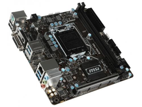 Материнская плата MSI B250I Pro (Soc-1151,  B250, DDR4, miniITX, SATA3, LAN-Gbt, USB 3.0), вид 1