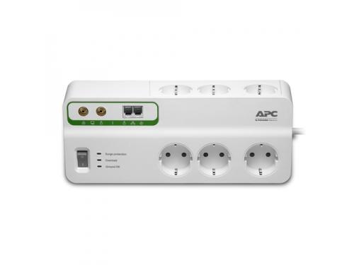 Сетевой фильтр APC PMH63VT-RS белый, вид 1