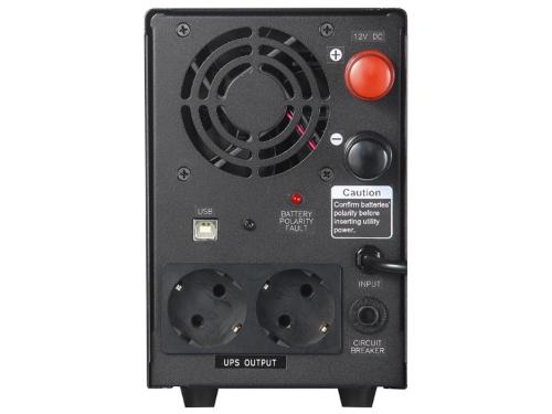 Источник бесперебойного питания Powercom INF-500 (500 ВА / 300 Вт), черный, вид 1
