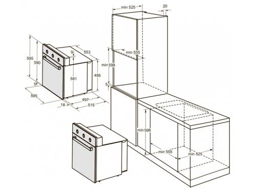 Духовой шкаф Darina 1U5 BDE111 705 X3, вид 2