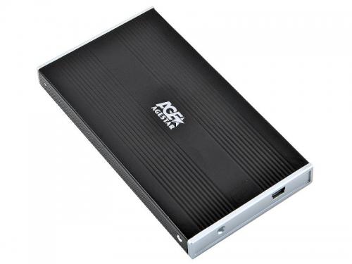 Корпус для жесткого диска AgeStar SUB2S (SATA - USB 2.0, 2.5''), чёрный, вид 1