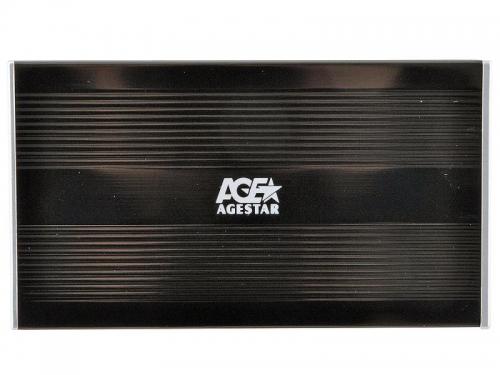 Корпус для жесткого диска AgeStar SUB2S (SATA - USB 2.0, 2.5''), чёрный, вид 4