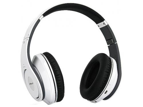 Гарнитура bluetooth CROWN CMBH-9299 (Bluetooth, microSDHC, MP3/WMA, FM), белая, вид 1