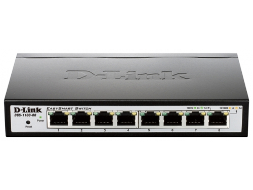 Коммутатор (switch) D-Link DGS-1100-08/A1A, вид 2