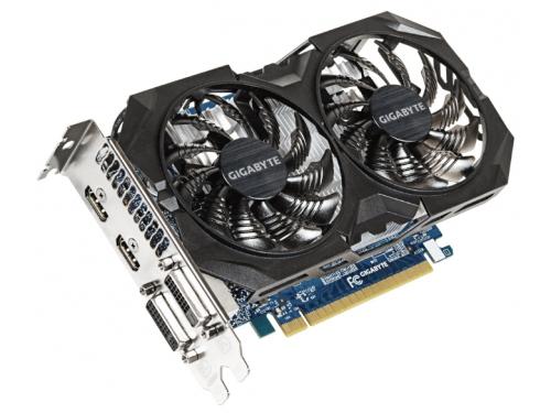 Видеокарта GeForce GIGABYTE GeForce GTX 750 Ti 1059Mhz PCI-E 3.0 4096Mb 5400Mhz 128 bit 2xDVI 2xHDMI HDCP (GV-N75TWF2OC-4GI), вид 2