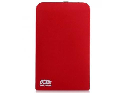 Корпус для жесткого диска AgeStar SUB2O1 (2.5'', miniUSB 2.0), красный, вид 1