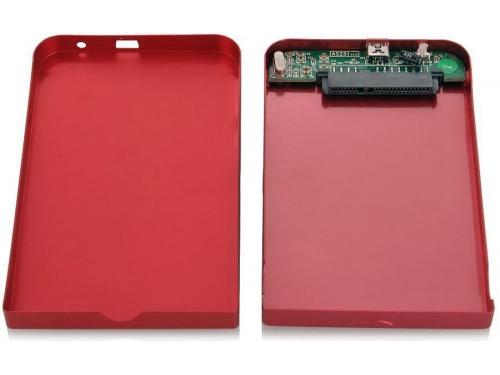 Корпус для жесткого диска AgeStar SUB2O1 (2.5'', miniUSB 2.0), красный, вид 3
