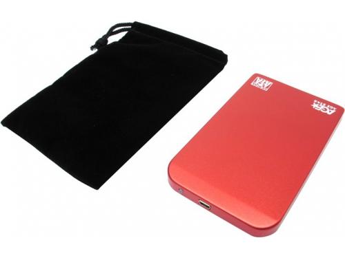 Корпус для жесткого диска AgeStar SUB2O1 (2.5'', miniUSB 2.0), красный, вид 4