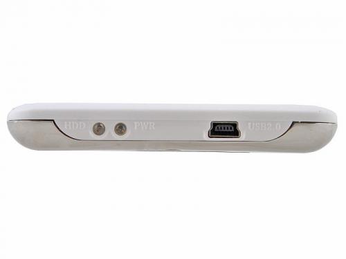 Корпус для жесткого диска AgeStar SUB2O7 (2.5'', mini-USB 2.0), белый, вид 2