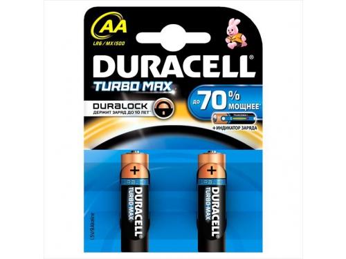 Батарейка Duracell Turbo Max (LR6-2BL), AA, 2 шт., вид 1