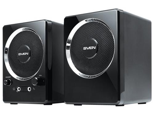 Компьютерная акустика Sven 247, 2.0, черный, 4Вт, вид 1