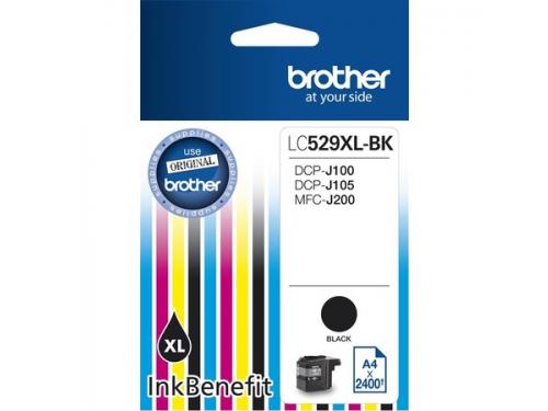 Картридж Brother LC529XLBK, чёрный, вид 1