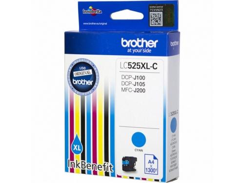 Картридж Brother LC525XLC, синий, вид 1