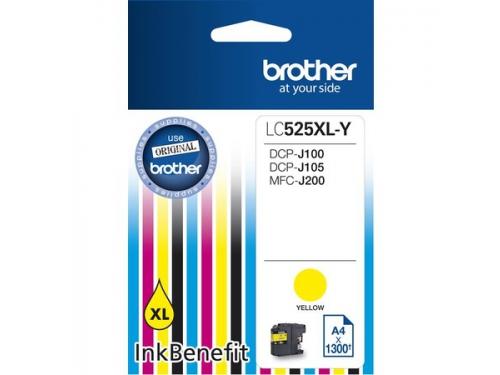 Картридж Brother LC525XLY, жёлтый, вид 1