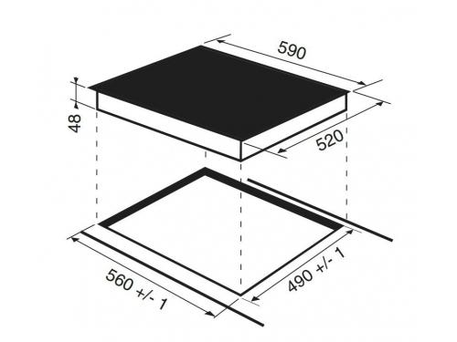 Варочная поверхность Hotpoint-Ariston KIO 642 DD Z, вид 2