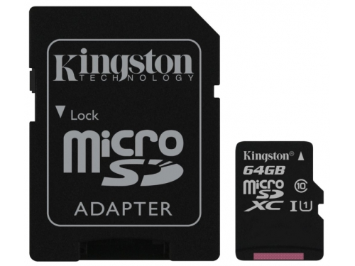 Карта памяти MicroSDXC Kingston SDC10G2/64GB, вид 2
